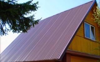 Как правильно делать крышу из профнастила