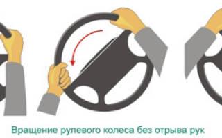 Правильное расположение рук на руле