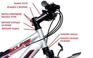 Как правильно установить руль на велосипед